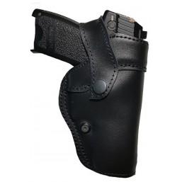 Leather pistol holster