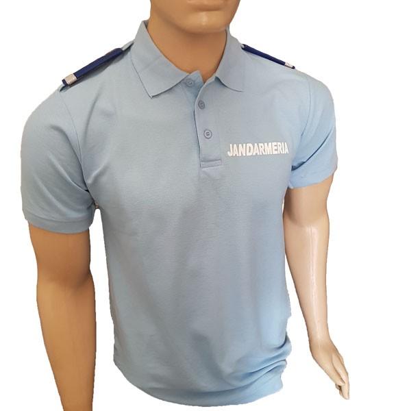 Tricou Polo Jandarmerie albastru deschis - 1