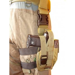 Olive tactical drop leg, right side