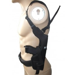 Vertical Shoulder holster with double magazine