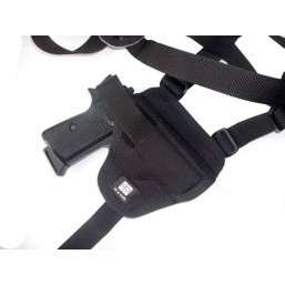 Orizontal shoulder pistol holster